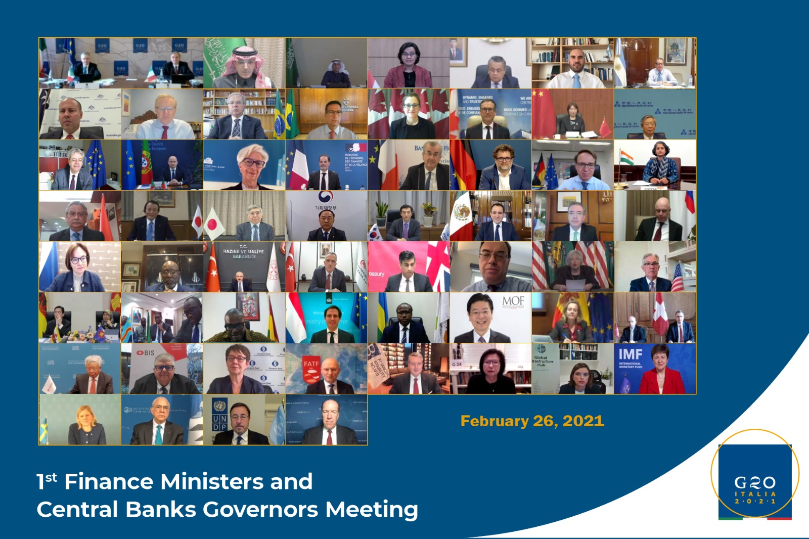 First G20 Finance Ministers and Central Bank Governors Meeting 26 February 2021