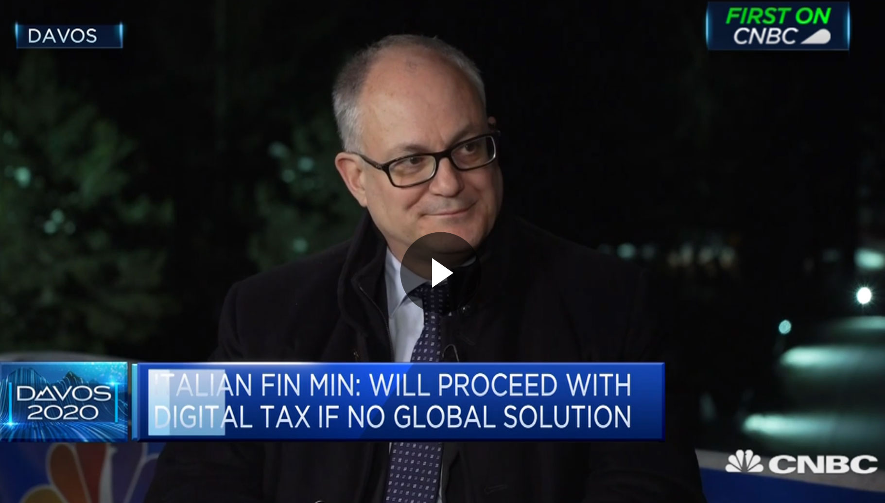 Roberto Gualtieri's interview with CNBC on the sidelines of the World Economic Forum in Davos